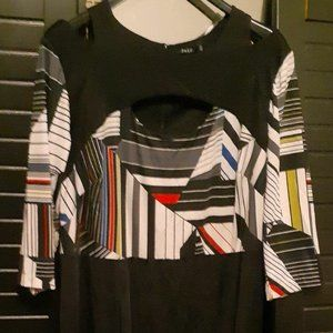 2X Jette Dress - Sexy, Abstract Print